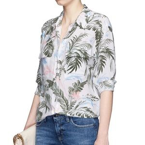 SOLD Equipment Signature Silk Printed Shirt Small